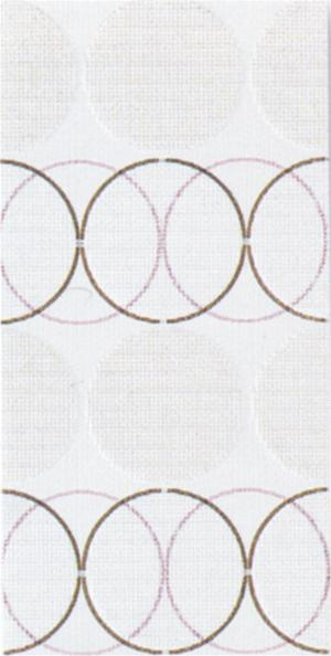 DECORO 20X40 FASHION CIRCLES WHITE